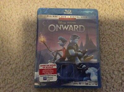 ONWARD DISNEY PIXAR 2020 FILM, New BLU-RAY &, DVD & DIGITAL CODE