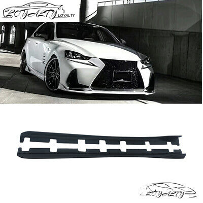 Fits 2014-2019 Lexus IS300 IS350 AR Style Matte Black Side Skirts Extensions PP