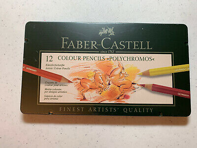 Faber-Castell 12 Polychromos Artists' Color Pencils - New Sealed - Best Price