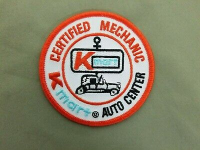 Certified Mechanic K Mart Auto Embroidered Iron On Patch