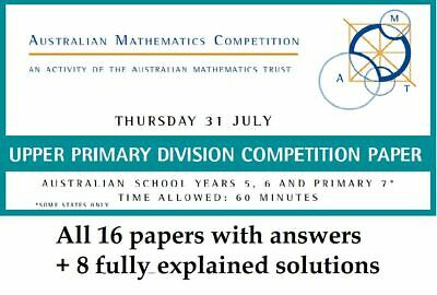 AMC Maths Upper Primary Year 5 - 6 set (total 16 papers + 8 worked solutions)