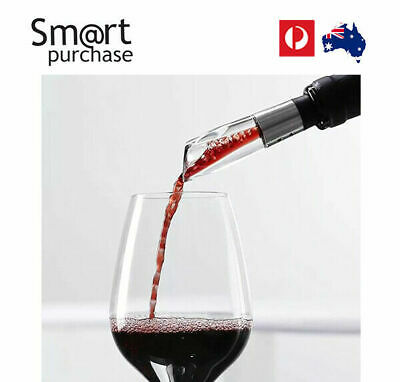 Wine Spout Acrylic Aerating Pourer Decanter Aerator Stainless 8/9/13/16cm v