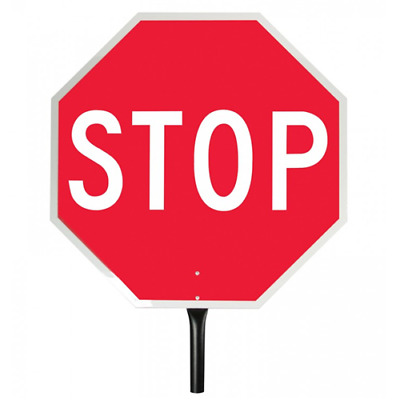 Stop/Stop Reflect Paddle Sign
