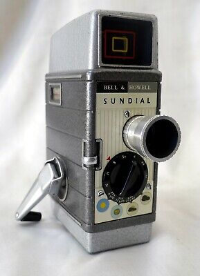 Vintage Bell & Howell Sundial Manual Wind Movie Film Camera +Case