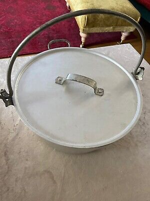 Large Vintage Aluminium Jam Pan With Metal Handle And LID , UK Post Included.