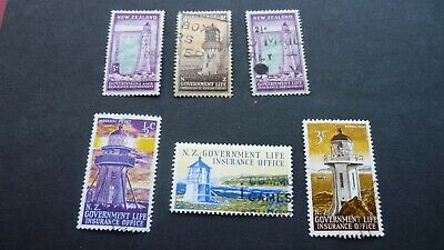 New Zealand Stamps Topic Life Insurance Department ,1947,1967,1969 Set of 6 Fine
