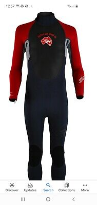"MENS circle one 3mm full lenght WETSUIT bodyboard kayak XXL chest 45"" RED"