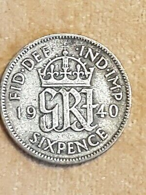 King George VI 🇬🇧 Silver 1940 Sixpence from my Dads coin collection