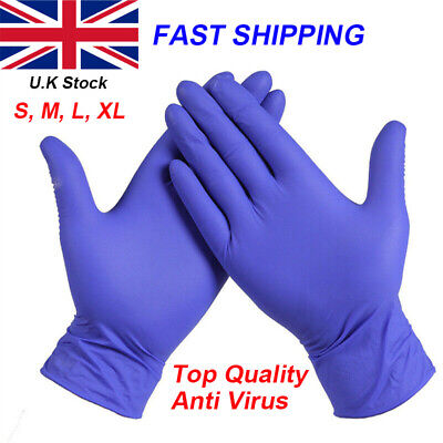 Disposable Gloves Blue Multipurpose Strong Powder Latex Free Gloves Size S - XL