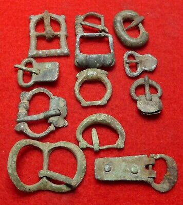 Group of 12 Medieval Buckles