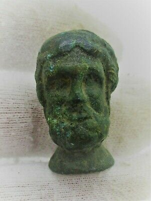 Detector Finds Ancient Roman Bronze Statue Fragment Head Of Senatorial Man