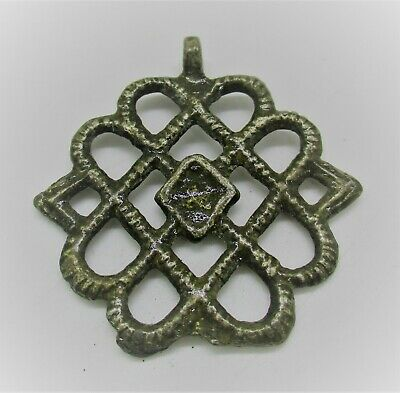 Detector Finds Ancient Viking Silver Entwined Openwork Warriors Pendant