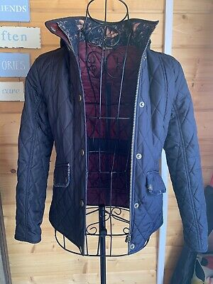 Barbour Girls Cavalry Quilted Navy Blue Jacket Medium Age 9/10 Approx