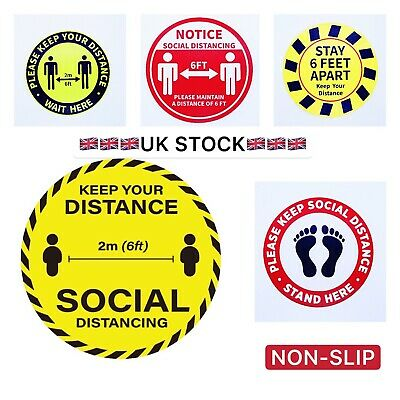 Shop Floor Sticker Social Distancing Floor Decals - Sticker 245mm/10inches