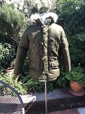Ralph Lauren Boys Coat Age 10-12 Khaki Green