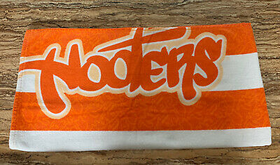 """Hooters Beach Towel White Orange - 53 1/2"""" x 27"""" Excellent Condition!"""