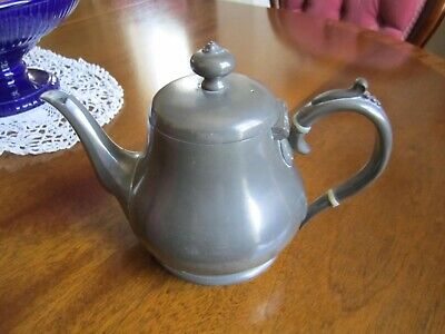 Antique Victorian James Dixon And Sons Sheffield Pewter Tea Pot