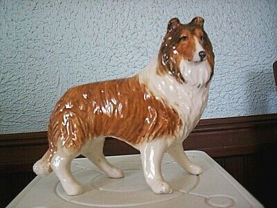 """Beautiful Rough Collie Sable & White Gloss Finish  4 3/8"""" Tall x 5 1/4"""" Long"""