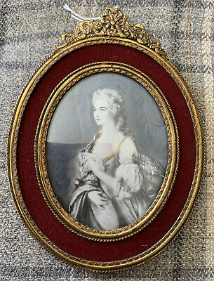 WELL PAINTED GEORGIAN Style PORTRAIT MINIATURE Of a Lady late 19th/early20th