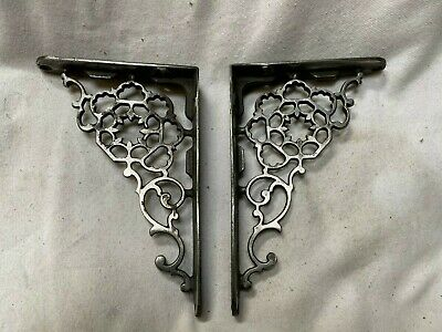 Pair Of Victorian Finely Cast Iron Brackets