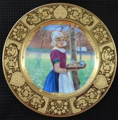 "Royal Vienna Porcelain Portrait Plate, Artist Signed ""Richter"", Excellent"