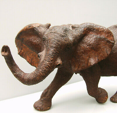 Carved treen model of an African elephant
