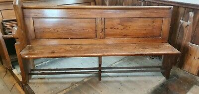 Antique 1830s 6 foot Welsh Chapel Pew, Solid Pitch Pine