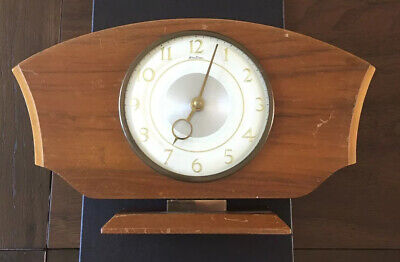 Antique Small Wooden Cased Bentima Wind Up Operated  Mantle Clock Not Working