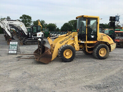 2003 New Holland LW80B Compact Wheel Loader w/ Cab Bucket and Forks!!