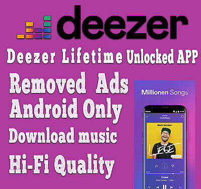 🔥Deezer Lifetime Unlocked App Premium UNLIMITED Android Only Delivery in 5 SEC