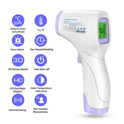 Infrared forehead thermometer Baby Kids Body Non-Contact Temperature Milk Tep