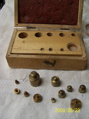 Antique Laboratory/Apothecary Weight Set—11 Brass Weights