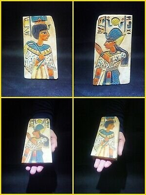 EGYPTIAN ANTIQUE ANTIQUITIES Two Different Sides Drawings Stela 1549-1304 BC