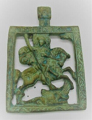 Detector Finds Ancient Byzantine Bronze Openwork Pendant Depicting Horse & Rider