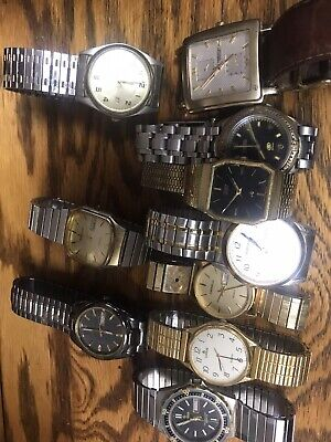 mens watch lot used Citizen Caravelle Lorus Kenneth Cole Elgin Pulsar