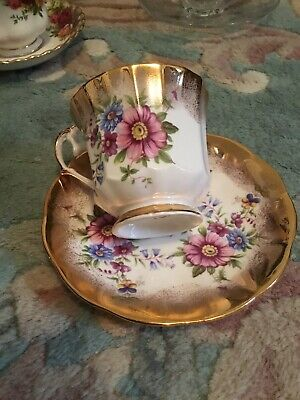 Antique Cup And Saucer Elizabethton Fine Bone China England