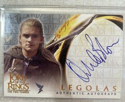 Lord of the Rings, The Two Towers autographed card by Orlando Bloom as Legolas