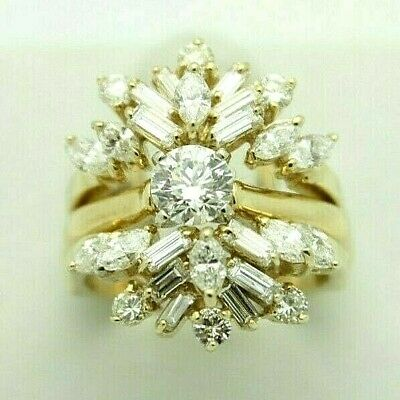 Yellow Gold Diamond Wedding Set. Engagement with Ring Guard. Appraised