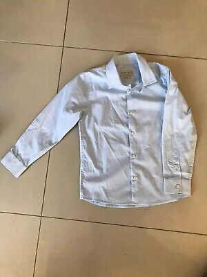 Zara Boys Smart Slim Fit Light Blue Shirt Age 7