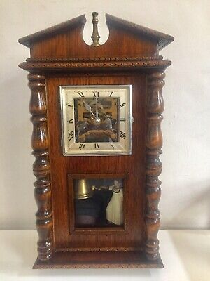 Antique Vintage Wall Clock Automotion But Maybe Created By Home.