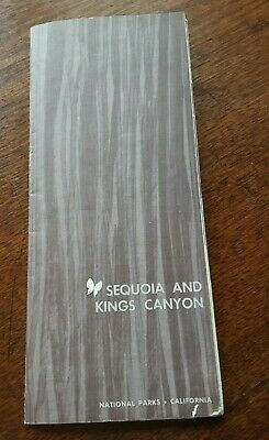 Vtg. Sequoia and Kings Canyon National Park CA Visitor Information Guide 1964