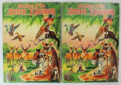 2 Wonders Of The Animal Kingdom Big Sticker Books Ralphs Grocery 1959