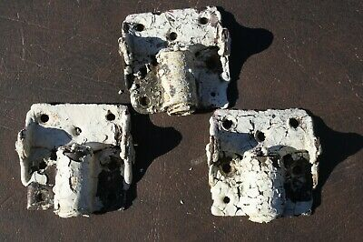 3 Antique Screen Door Hinges Spring Loaded Steel 1899 Queen Anne Victorian