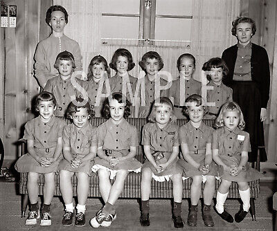 1960 Girl Scouts Brownie Troop Lancaster SC - Print Photo Picture