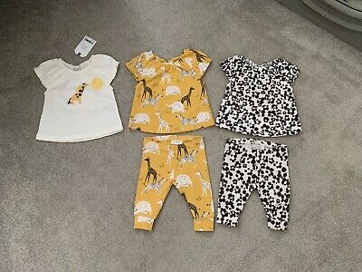 Next Baby Girls Newborn Upto 1 Month Summer Safari Theme Outfits Bundle Part New