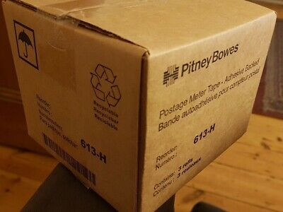 Genuine Pitney Bowes Sendpro Connect 1000 613-H Postage Meter Tape (3 Rolls)