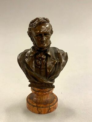 Antique Bronze Bust of Wagner by J. Kalmar Foundry (587)