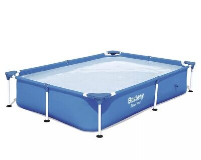 Bestway 7.25ft x 5ft x 17in Steel Pro Rectangular Above Ground Swimming Pool