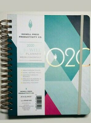 2020 Inkwell Press Weekly Monthly Planner At-A-Glance 7x9 Hardcover Notebook