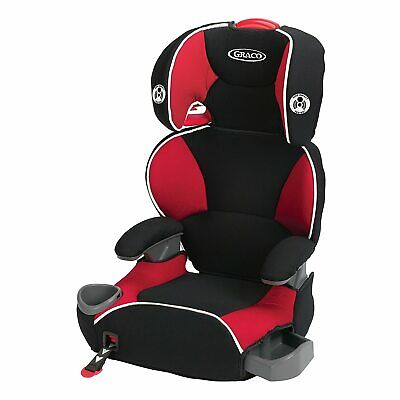 Graco High Back Big Kid Booster Car Seat with Cup Holder and Storage Red Black
